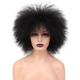Canada Perruque Synthétique Courte Afro Kinky Bouclée De HotFashion, Perruques Synthétiques De Fibre De Kanekelon 100% Offre