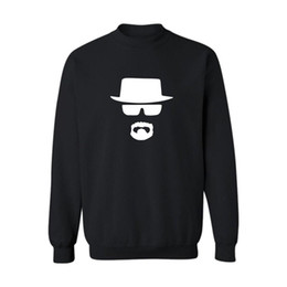 Wholesale Breaking Bad Hoodies - Legend Heisenberg Breaking Bad Sweatshirt Men Color Gray Black Mens Hoodies and Sweatshirts 2016 for Street wear
