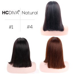 Wholesale short blond wigs - Malaysian Straight Short Bob Wigs 130% Density Pre Plucked Bob Wig Lace Front Human Hair Wigs For Black Women 613 Blond Hair HCDIVA