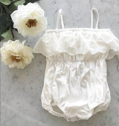 dae5555de589 2018 INS Baby girl Infant Toddler Summer clothes Strap Hollow Lace Romper  Onesies Jumper Jumpsuits Diaper covers Bloomers Shorts Dress