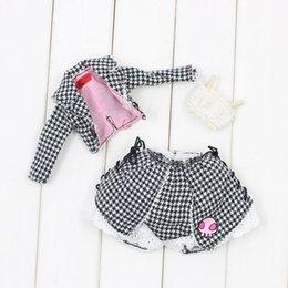 Wholesale Girls Skirt Coat - Blyth doll Skull Pink A set of waist cut Set of coat and short skirt for the doll BJD NEO