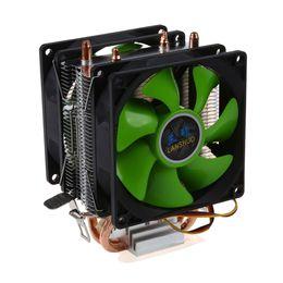 Raffreddatore cpu lga775 online-Freeshipping CPU cooler Silent Fan per Intel LGA775 / 1156/1155 AMD AM2 / AM2 + / AM3