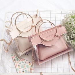 Wholesale messenger pieces - New Fashion Women Designer Handbags Ring Girls Chain Luxury Handbag Shoulder Bags Brand Ladies Messenger Bag Crossbody Bags 2 Piece Sets