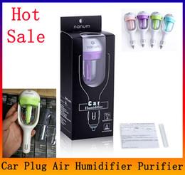 Wholesale mini humidifiers - Car Aroma Diffuser 12V Steam Air Humidifier Mini Air Purifier Aromatherapy Essential Oil Diffuser Portable Mist Maker Fogger
