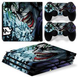 Canada Cool Joker vinyle autocollant de décoration de peau pour Sony PS4 Pro Console + 2 PCS contrôleur autocollants de la peau Offre