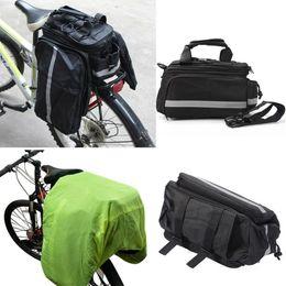Malas de porta traseira de bicicleta on-line-Saco Da Bicicleta Ciclismo Assento Traseiro Tronco Bag Bolsa Rear Bike Panniers com capa de Chuva Acessórios de Montanha