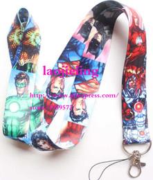 Identificación de superhéroe cordón online-Envío gratis Nuevo Nuevo Marvel Movies Avengers Superheros Cello Teléfono llavero Correa para el Cuello Llaves Tarjeta de Identificación de la Cámara Cordón M-03