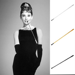 Wholesale vintage pipe tobacco - Telescopic Lady Cigarette Holder Vintage Ladies Filter Smoke Holder Tobacco Pipe Cosplay Props For Lady Fashion Portable Gifts