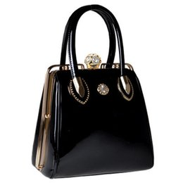 Wholesale Vintage Patent Leather Bags -  Luxury Handbags Women Bags Designer Brand Shoulder Bags Casual Tote Ladies Handbag Patent leather evening Bags Purse Female 2017