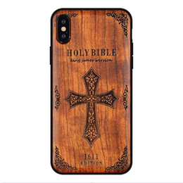 Caixa de madeira sólida iphone on-line-Para o iphone xs max xr de madeira maciça de luxo phone case para iphone x 6 7 8 plus