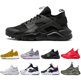 huaraches sneakers women Coupons - New Huarache 4.0 1.0 Classical Triple White Black red men women Huarache Designer Shoes Huaraches sports Sneakers Running Shoes size 36-45
