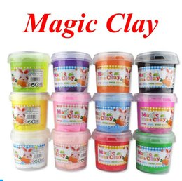 Wholesale Wholesale Air Dry Clay - Ultra Light Magic Clay 300g 24 Colors Modeling Clay Air Dry Dough Clay Intelligent Plasticine Mud 100pcs OOA3871