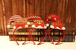 головные уборы оптом Скидка Оптовая Рождественский обруч пряжкой шляпа Рождество оголовье волос группа рождественские украшения праздничные атрибуты с Мешок OPP 100шт CHB1