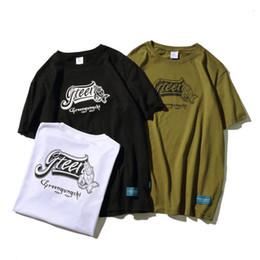 Camisa del ejército de la vendimia online-Estilo de verano Hombres Camiseta Vintage Army Casual O-cuello Mangas cortas Letra inglesa Camiseta corta impresa M-2XL