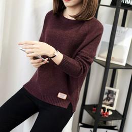9c0f324b2 2018 primavera outono cor plus size das mulheres dress conforto camisola de malha  camisola moda o-pescoço de manga longa jumper