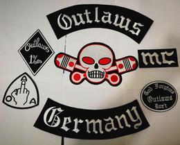 2019 badges allemagne Allemagne Outlaws Patches Brodé Fer sur Biker Patches pour la veste de moto Gilet Patch Vieux HAMC Outlaws MC Patch badges stocker badges allemagne pas cher