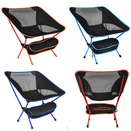 Wholesale portable hiking chair - Portable Folding Camping Backpack Chair Compact Heavy Duty Chairs For Hiking Picnic Beach Camp Backpacking Outdoor Festivals WX9-660