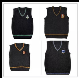 Harry Potter Sweater V Cos Sweater de cuello alto Uniforme mágico School Waistcoat uniformes Gryffindor Slytherin Ravenclaw Cosplay desde fabricantes