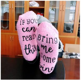 Wholesale Cheap Beer Wholesalers - Latest Cheap Woman Cotton IF U CAN READ THIS BRING ME A BEER Letters Socks 10 Pairs