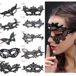 15 Arten Halloween Sexy Maskerade Masken Schwarz Spitze Masken Venezianischen Halbe Gesichtsmaske für Weihnachten Cosplay Party Night Club Augenmaske drop ship von Fabrikanten