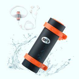 Wholesale Waterproof Mp3 Bluetooth Headphones - BBGear Waterproof MP3 Swimming Diving Music Player Underwater Sports MP3 w  FM Radio Armband Wired Headset Headphone Players 8GB
