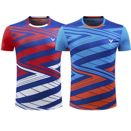 Wholesale Victor Shirt - VICTOR Badminton Jersey ,Tennis Shirts Clothes,Badminton Tennis competition attire,Breathable Sport sportswear Tennis tracksuit Quick-dryi