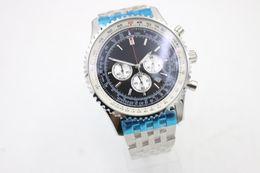Wholesale Quartz Store - 2018 AAA watch store Mark1994 Luxury Brand watch men navitimer A35340 black Dial Stainless Steel quartz chronograph Watch Mens dive Watches