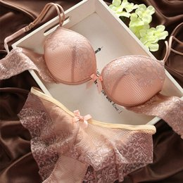 81253a3d9d Fashion fashion lace sexy thin deep V-neck push up underwear hot-selling  vintage solid color bra set