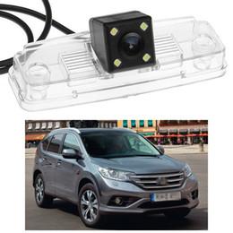 honda cr v led Desconto Novo 4 LED Câmera de Visão Traseira Do Carro de Backup Reversa CCD apto para Honda CRV CR-V 2012-2014 2013