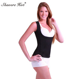 Wholesale shaping vest women - 2017 Sweat Sauna Hot Body Shapers running Vest Waist Trainer Slimming Vest Shapewear Weight Loss Waist Shaper Corset shape tops