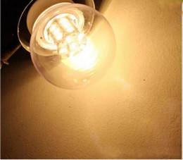 Wholesale New E27 Globe - New Design Super Bright E27 5730SMD 27LED 7W LED Lamps 12V Cold White Warm White Bulb Led Lights Brand LLFA