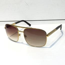 óculos de sol de lente completa Desconto Atitude de luxo Óculos De Sol Para Homens Moda 0260 projeto Lente de Proteção UV Quadrado Moldura Completa Banhado A Cor de Ouro Quadro Vem Com pacote