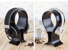 decodificador de áudio óptico Desconto Alta Qualidade Clara e Acrílico Preto U-tipo Headset Display Rack Gaming titulares de exibição de fone de ouvido Head-mounted magic sound headphones stand