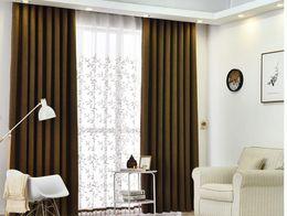 Linge de maison moderne en Ligne-B Usine direct moderne minimaliste salon chambre rideau fini personnalisé en gros lin couleur unie rideau tissu