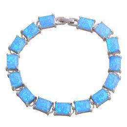 Wholesale White Opal Bangle Bracelet - Party Wedding Gift 925 Sterling Silver Overlay Blue Fire Opal Bracelets bangles for Women 190mm 7.65 inch B068