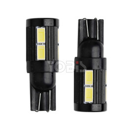 Wholesale 12v led exterior - 12V LED T10 10smd 5630 5730 W5W Car exterior light White Width Lamp Car Wedge Light Bulb