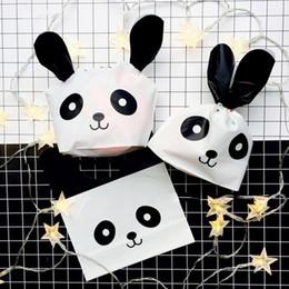 50 шт./упак. Панда печенье пластиковые конфеты печенье упаковка сумка хозяйственная сумка свадьба поставки подарок от