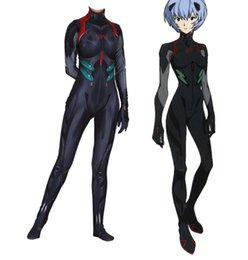 Anime evangelion on-line-Traje Evangelion Cosplay Halloween Party eva Rei catsuit