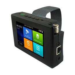 Caméra ptz analogique en Ligne-Date IP Caméra Testeur 4 pouces 5 en 1 H.265 4K / H.264 IP + TVI 8MP + AHD 5MP + CVI 4MP + Analogique CCTV Caméra Testeur Moniteur Soutien PTZ Contrôle