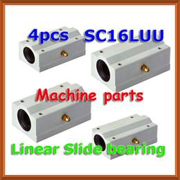Wholesale linear ball cnc - 4pcs x SC16LUU SCS16LUU 16mm shaft Linear axis Ball Bearing block, Lengthen Bearing pillow Bolck Linear unit for CNC