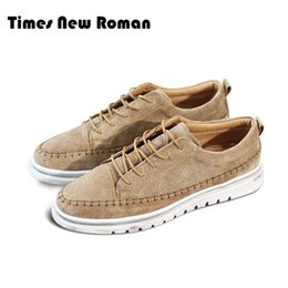 Times New Roman Autumn Casual Shoes Mens Leather Flats Lace-Up Shoes Simple  Stylish Male Sneakers Oxford For Men f7e25c3fba4