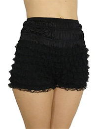 hot underwear short woman Coupons - Sexy Women Girls Lace French Maid Ruffles Panties Underwear Frilly Knickers Panties High Waist Stretch Safety Short Pants Hot