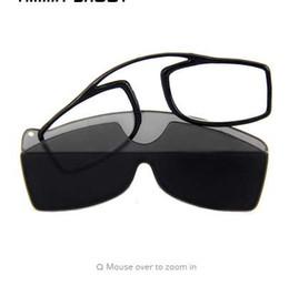 NUEVO clip de lectura gafas hombres mujeres portátil TR90 SOS cartera mini gafas más viejas para leer anteojos hipermetropía con caja AS087 desde fabricantes