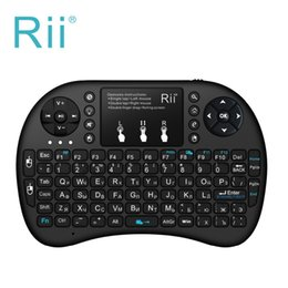 2019 pc rii bluetooth Teclado Rii Mini i8 Teclado Rii mini i8 + Teclado inalámbrico Qwerty Teclado retroiluminado para tableta HTPC Smart TV Box PC Teclado pc rii bluetooth baratos