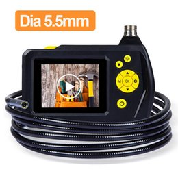 "Wholesale Endoscope Camera Lcd - Eyoyo 2.7"" Color LCD Screen NTS100R Endoscope 5.5mm Borescope DVR Snake Inspection Tube Camera 1 Meter 3 Meters Cable"
