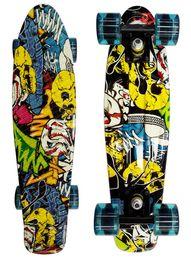 Wholesale Longboard Fish - Wholesale-Skateboard Complete Retro Girl Boy Cruiser Mini Longboard Skate Fish Long Board 22''