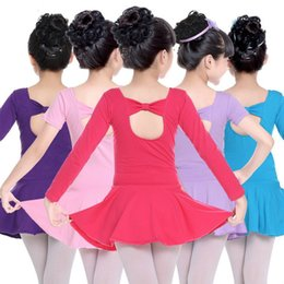 365ceb90e176 long tutu skirts for kids 2019 - rhythmic long sleeves gymnastics leotard  for girls ballet kids