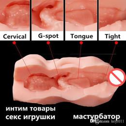 Sex toys filles chatte en Ligne-Poupée d'avions jouets masculins de la chatte de poche masturbation masculine poupée de sexe adulte sur le vagin anal de gel de silice réaliste vagin de fille