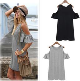 robe à manches papillon vintage Promotion Hot vente mode femmes papillon manches coton mignon sangle hors épaule gilet robe plus la taille S-4XL