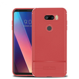 Wholesale Life Cell Phone Cover - Litchi Soft TPU Shockproof back Cover For HTC U11 Plus U11 Life X2 Brushed Cell Phone Case For LG V30 Plus